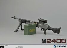 "ZY TOYS 1/6 Scale US M240B Machine Gun w/ metal bullet chain fit for 12"" Figure"