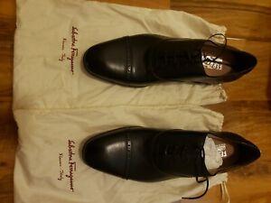 salvatore ferragamo mens shoes size 10. Black . No scuffs or marks.
