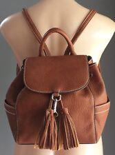 Retro JAG Classic Tan Pleather Pebble Look Backpack