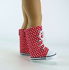 """Red Super Star Sneaker Boots Fits 18"""" American Girl Doll Clothes Shoes"""