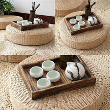 Round Straw Weave Handmade Pillow Floor Yoga Chair Seat Mat Tatami Cushion KP