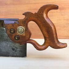PREMIUM Quality SHARP! Vintage W.TYZACK SONS & TURNER Tenon SAW Old Hand #194