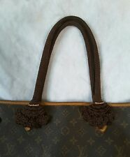 NEW Handle Cover Crochet Handmade for bag Neverfull mm gm dark brown