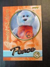 Ty Beanie Babies Series III S3 Limited Edition BBOC Peace Tear A Bear Card