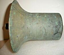 Early, Heavy 11 # 11 Oz. Cast Brass - Bronze Bell Shaped Maine Boathouse Item !