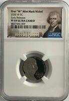 2020 W NGC PF69 EARLY RELEASE PROOF JEFFERSON NICKEL ULTRA CAMEO