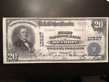 Reproduction $20 National Bank Note 1902 First National Bank Of Detroit, MI
