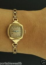 Bulova 18mm Ladies Wrist Watch 14K Rose Rolled Gold Filled/Plated Mechanical