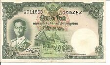 THAILAND, 20 BAHT,P#77c,  ND(1953)