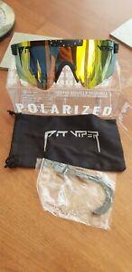 Polarised Sunglasses Cycling pitviperpolarised beach UK black chrome lens UK