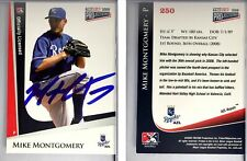 Mike Montgomery Signed 2009 TRISTAR PROjections #250 Card AZL Royals Autograph