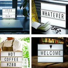 A6 DIY Light UP Letter Box Cinematic Led Sign Wedding Party Cinema Shop Home