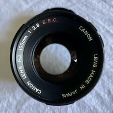 CANON FD 100mm f2.8 SSC breech mount. Exc glass VG+ Clean and clear.