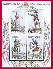 FRANCE 1989 BLOC N°10** LUXE REVOLUTION PERSONNAGES CELEBRES