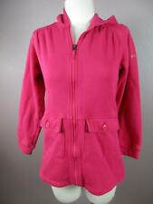 Columbia Size L(14/16) Youth Girls  Pink Full Zip Front Pockets Sweater 545