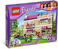 LEGO Friends 3315 BNIB Olivia's House yard building home mini doll Peter Anna