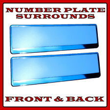2x Number Plate Surrounds Holder Chrome for Land Rover Discovery MK1 MK2