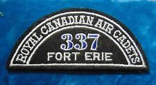 CANADA Royal Canadian Air Cadets FORT ERIE 337 squadron shoulder flash badge