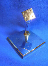 Mid Century 60´s German Chrome CUBE Paperweight Desk Decoration #Y2