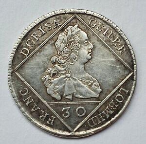 1751 Austria Joseph II 30k. Kreuzer Silver Coin VF/XF+ 6.9gr.