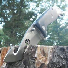 """9"""" ELK RIDGE Black Wood Gut Hook SPRING ASSISTED Hunting Folding POCKET KNIFE"""