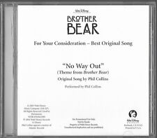 """Brother Bear For Your Consideration Best - Original Song """"No Way Out"""" (CD, 2003)"""