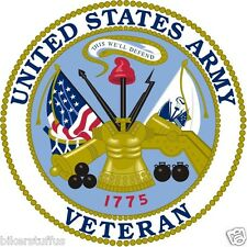 US ARMY VETERAN TOOLBOX STICKER LAPTOP STICKER HARDHAT STICKER