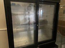 More details for polar back bar cooler with hinged doors in black 208ltr - gl002 catering bottle
