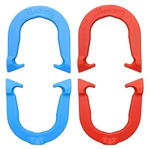 Mustang Professional Pitching Horseshoes- 2 Pair, Red/Blue, Made in USA