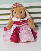 PRINCESS AURORA BROWN BUILD A BEAR RABBIT 40CM PLUSH TOY! DISNEY DRESS!