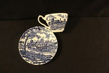 Myott Royal Mail Blue Staffordshire Ware Cup Saucer Set