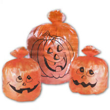 3 Orange Pumpkins Haunted Halloween Party Outdoor Lawn Bags Garden Decorations