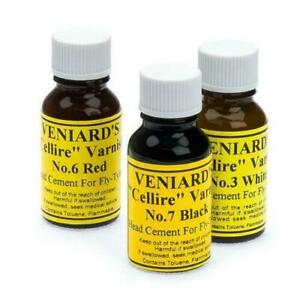 Veniards Cellire Varnish   Black, Red, White, Clear -  for Fly Tying Varnish