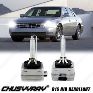 6000K Front HID Headlight Bulbs for 2006-2011 Cadillac DTS Low & High Set 2