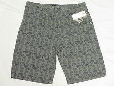$46 NWT Mens Ecko Unltd Paisley Printed Raul Shorts Grey Twill Urban Sz 32 M526