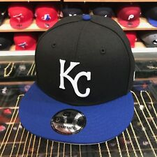 New Era Kansas City Royals Snapback Hat Cap Black/Royal/White