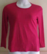 Nautica Intimates Womens S Small Petite Sleepwear Top Shirt NWT Persian Red