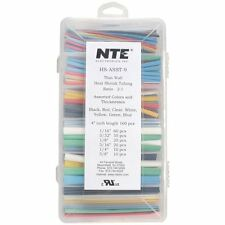 """NTE HS-ASST-9 Heat Shrink 4"""" Lengths Assorted Colors and Diameters"""