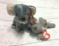 Eucalyptus Koala Retired Ty Beanie Baby Collectible & Mel Teenie Lot