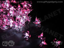 Pink Midnight Flower LED Stringlights, Mains Powered Indoor / Outdoor Use 10m
