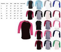 7 Pieces 3/4 Sleeve Raglan Baseball Shirts Mens Plain Tee Jersey T-Shirt S-3XL