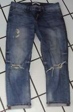 ZARA Z1975 DENIM 7/8 Jeans Hose Bermuda  destroyed Look Damen Gr. 38 hellblau .