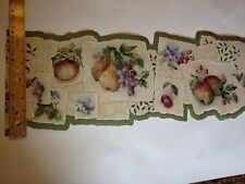 Laser Cut Pear Plum And Other Fruits Prepasted Wallpaper Border 681440