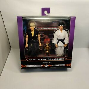 NECA The Karate Kid 1984 Daniel and Johnny Clothed Action Figures Tournament NEW