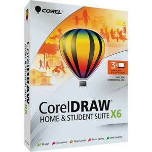 Corel CorelDRAW Home & Student Suite X6 -3 Users Software f Windows CDHSX6ENMBAM