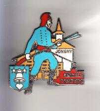 RARE PINS PIN'S .. POMPIER FIRE LANCE CLOCHE RING BELL EGLISE JONGNY SUISSE ~CB