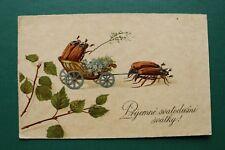 Arte mostrarían ak feliz Pentecostés 1910-30 escucha la república checa cz escarabajo carro