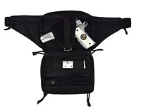Black Concealed Carry 4 Compartment Durable Canvas Waist Gun Fanny Pack CCW