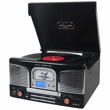 Groov-e Retro Series Vinyl Record Player with CD, USB and FM Radio - Black