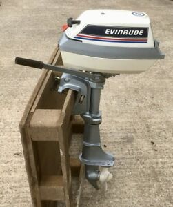 Evinrude 4 HP Two Stroke Twin Cylinder Short Shaft Outboard Engine